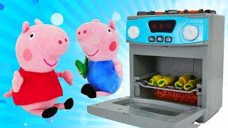 Видео с игрушками - Про Свинку Пеппу и плюшевые игрушки