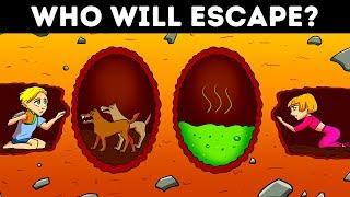 BEST EMOJI GAMES AND RIDDLES ON ESCAPE 😏 TEST YOUR SURVIVAL SKILLS