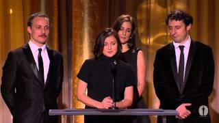 "The cast of ""In the Land of Blood and Honey"" honor Angelina Jolie at the 2013 Governors Awards"