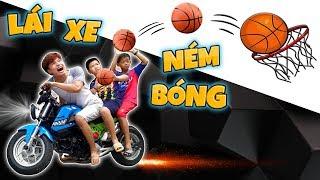 Tony | Thử Thách Ném Bóng Rỗ Trên Siêu Xe - Basketball Battle