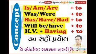 "Is Am Are + to, Was Were Will be + to, Has/Have/Had/Will have + to & ""Having to"" 