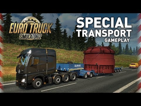 Euro Truck Simulator 2 Single Player   Special Transport DLC  Drive on the Calias-Duisburg Road
