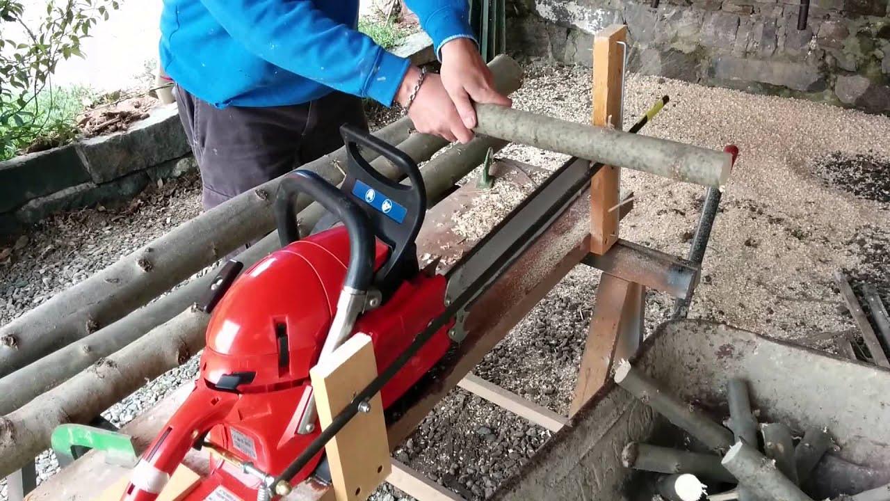 taglio legna con motosega fissa youtube