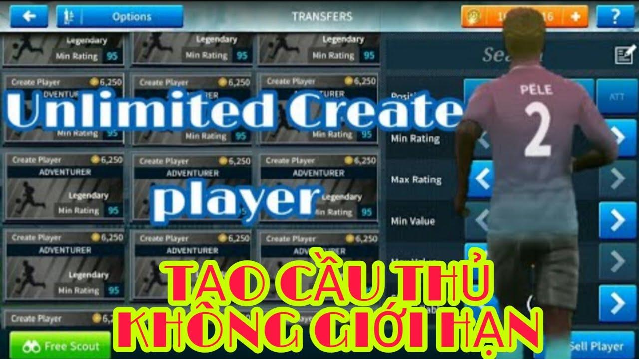Create Unlimited Players - Cách Tạo Cầu Thủ Không Giới Hạn Trong Dream  League Soccer | Dowload 👇👇