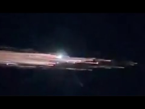 ¿Fue un cohete Falcon 9 ardiendo en el reingreso? ¡¡Tú decides!!
