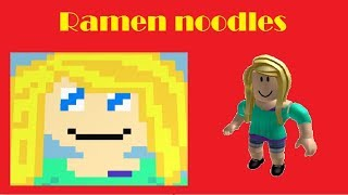 Ramen noodles girl speed art ! Roblox pixel art creator