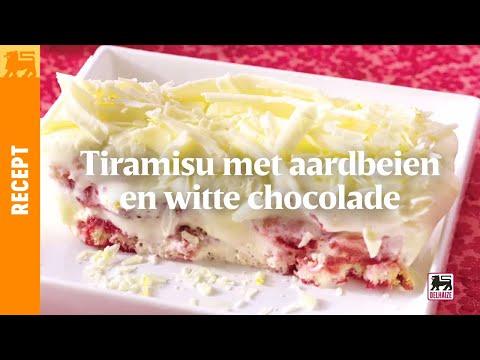 Tiramisu met aardbeien en witte chocolade youtube - Chocolade en witte badkamer ...