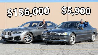 2020 BMW 750Li vs 2001 BMW 7-Series // Luxury Meets Legend