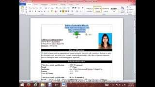 How to write a CV / resume  with Microsoft Word HD