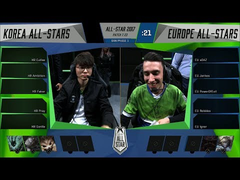 KR vs EU - 2017 ALL-STAR EVENT- Korea vs Europe