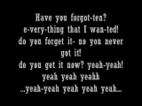 Forgotten by Avril Lavigne LYRICS