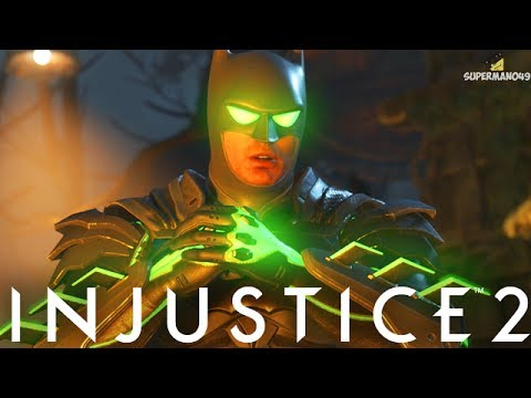 "BATMAN'S EPIC KRYPTONITE INFUSED ARMOR! - Injustice 2 ""Batman"" Gameplay"
