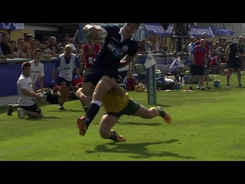 RE:LIVE! Kellaway's try-saving tackle for Australia at U20s