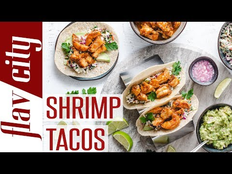How To Make The BEST Shrimp Tacos with Buttery Salsa & Creamy Slaw