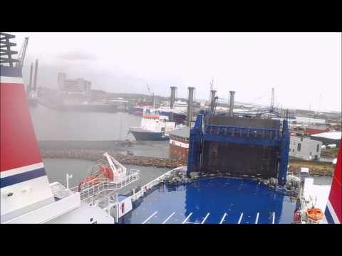 (speed up) Stena Jutlandica Departure frederikshavn.