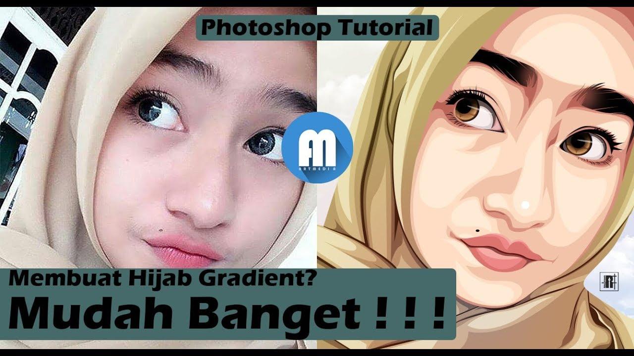 Tutorial Membuat Vektor/Vexel Hijab Gradient di Photoshop - Mudah Banget!