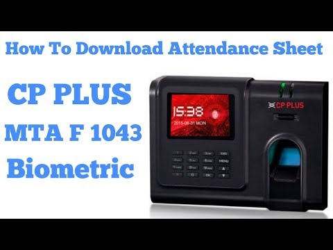 How To Download Attendance Sheet  CP PLUS MTA F1043 Biometric Machine