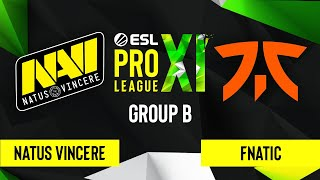 CS:GO - Natus Vincere vs. Fnatic [Overpass] Map 1 - ESL Pro League Season 11 - Group B