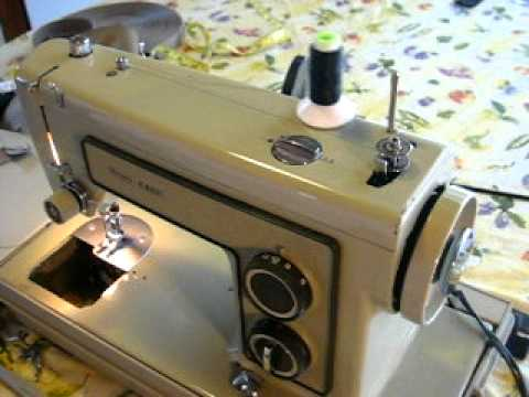 Loading Thread On The Bobbin Old Kenmore Sewing Machine YouTube Impressive Kenmore Sewing Machine Vintage