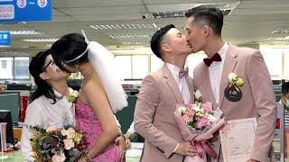 Die ersten Homo-Ehen in Taiwan