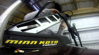 how to replace a broken trolling motor cable by installing the g force handle