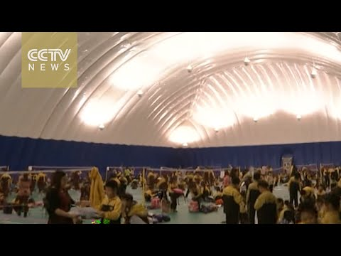 Beijing school builds air domes for kids to enjoy sports amid smog