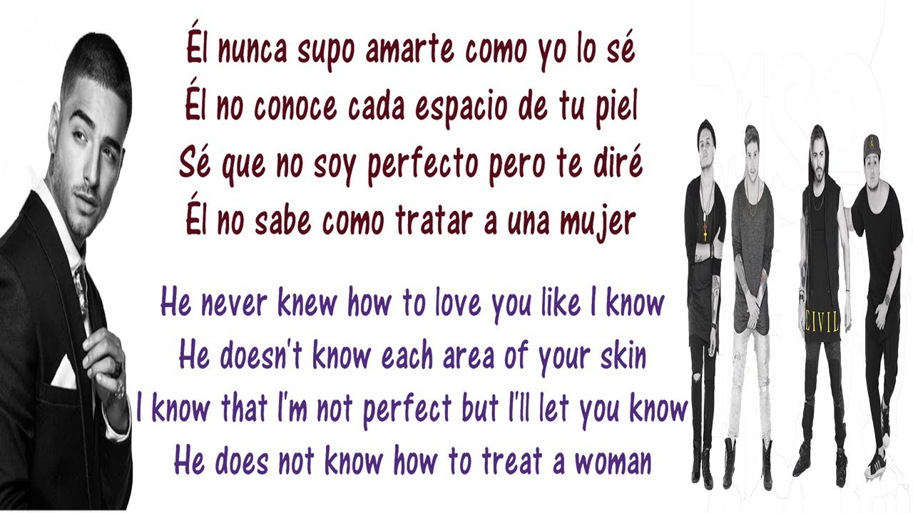Piso 21 - Me llamas Lyrics English and Spanish Feat Maluma - Translation &  Meaning Letras en ingles