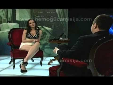 Serbian prime minister left speechless when glamorous interviewer has Sharon Stone moment