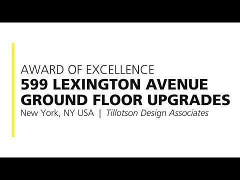 599 Lexington Avenue Ground Floor Upgrades – 2017 Award of Excellence