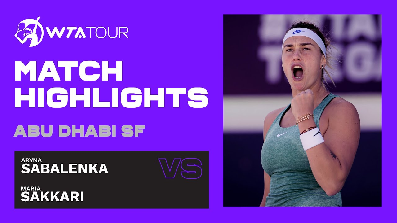 Maria Sakkari vs. Aryna Sabalenka | 2021 Abu Dhabi Semifinal | WTA Highlights