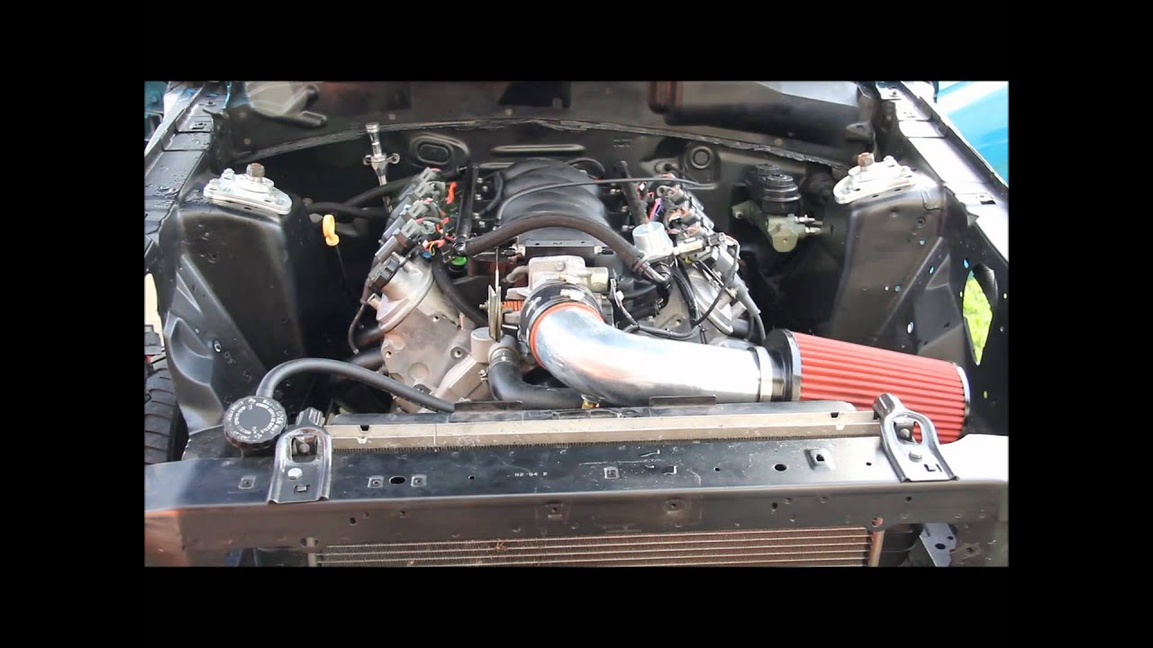 All Chevy 5.3 chevy horsepower : 94 Mustang 5.3 LS Swap Holley HP Start Up - YouTube