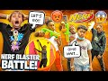 WE RENTED OUT THE TRAMPOLINE PARK AGAIN & HAD A NERF BLASTER BATTLE!