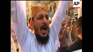 Protesters from various political factions demonstrated in Karachi, Pakistan on Sunday after the gov
