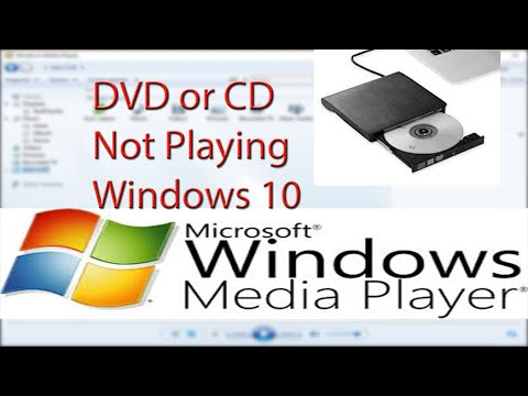 Media Player Not Playing DVD Or CD Windows 10