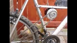 DIY cheap electric bike using cordless - drill battery