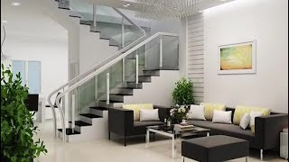 30+ Modern Living Room Stairs Interior Designs Ideas