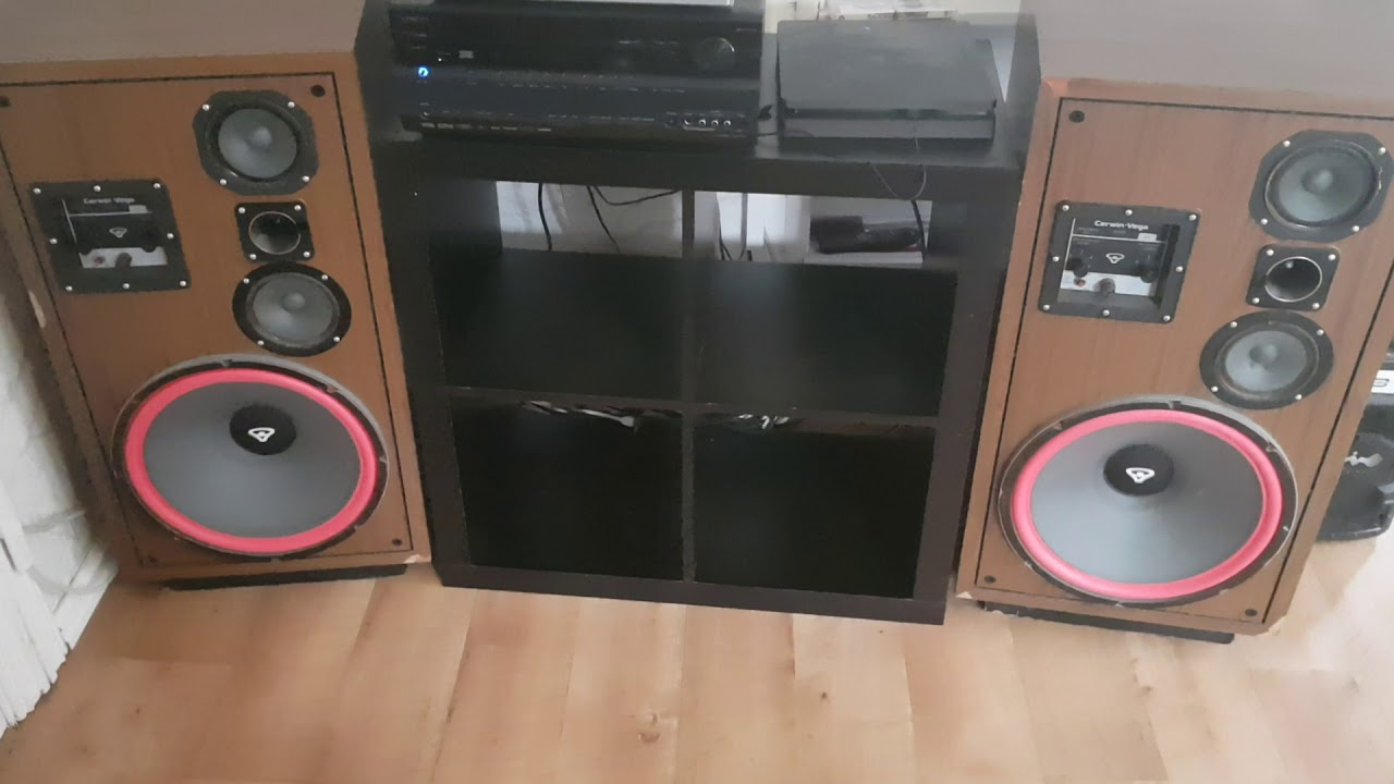 Retro Cerwin vega D9 playing loud 113dB spl test by Tommy's Speakers &  Gadgets