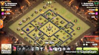 Clash of Clans: Latinos Army / Th 9 Vs Th 9/ GOVAHOG/ Héroes 20 - 24