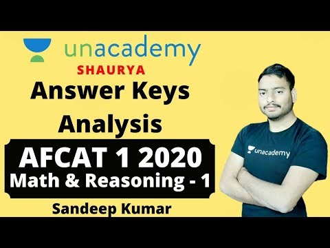 AFCAT 1 2020 Answer Key   AFCAT 2020 Maths Reasoning Answer Key - 1   AFCAT 2020 Answer Key Analysis