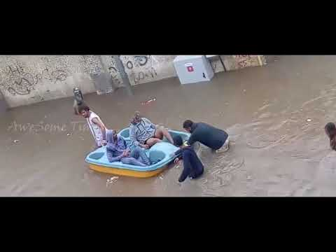 Saudi city of Jeddah Flood 2017 / Heavy rain in jeddah / rain in jeddah  from AweSome Times