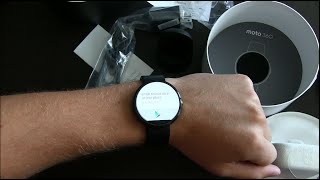 Motorola Moto 360 Unboxing and Hands On