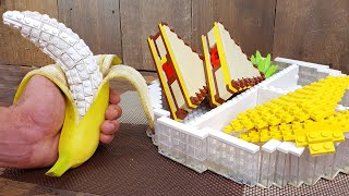 Lego Breakfast Sandwich - Lego In Real Life 3 / Stop Motion Cooking & ASMR