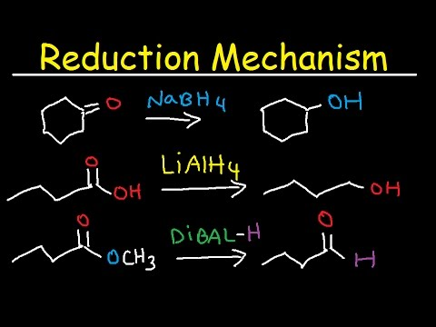 NaBH4, LiAlH4, DIBAL Reduction Mechanism, Carboxylic Acid, Acid Chloride, Ester, & Ketones