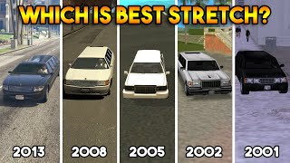 GTA : WHICH IS BEST STRETCH IN EVERY GTA? (GTA 5, 4, SA, VS, 3)