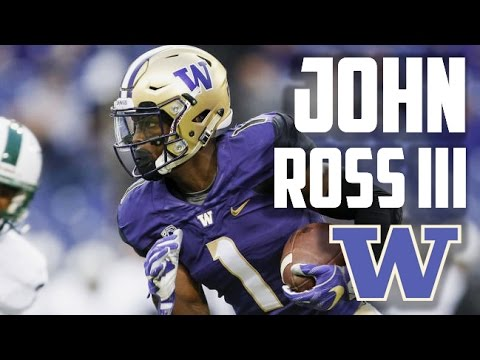 The Most Exciting Wide Receiver in all of College Football |John Ross III| Washington Huskies ᴴ ᴰ