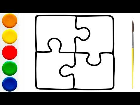 ПАЗЛЫ Раскраска | Как нарисовать ПАЗЛЫ для детей