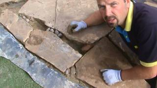 How To Build A Wildlife Pond: Part 4 - Installing Edging Stone And Beach