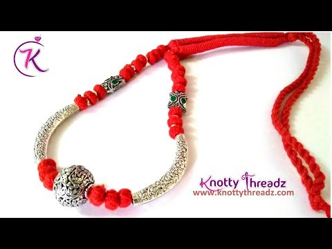 DIY German Silver Jewelry | Victorian Beads Necklace | Silver Collection | www.knottythreadz.com