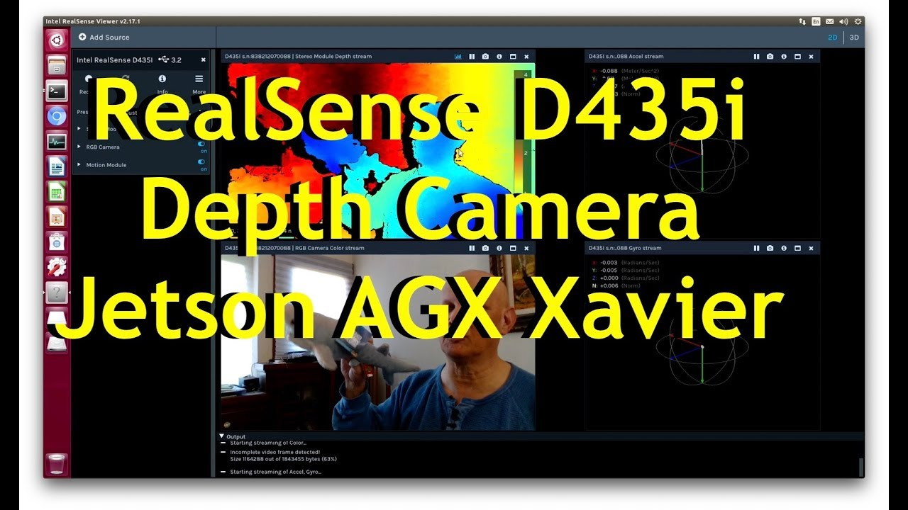 Intel Realsense D435i Depth Camera on NVIDIA Jetson AGX Xavier