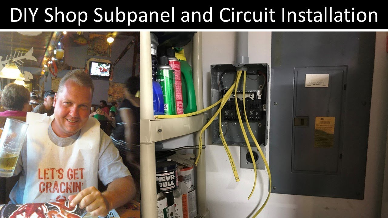 How To Install A Subpanel Youtube Diy Electrical Wiring